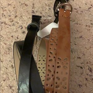 2-pack Apt. 9 belts size large black and brown
